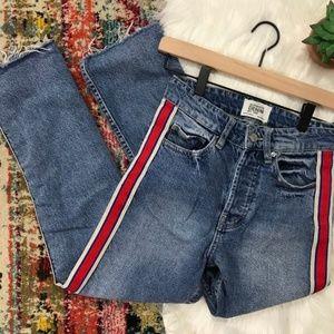 Zara ...Side strip jean